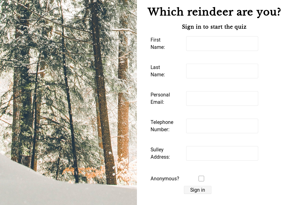Picture of a quiz titled Reindeer quiz